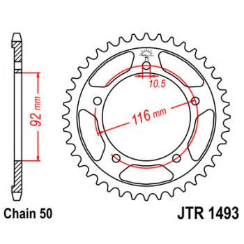 Звезда задняя JT Sprockets JTR1493.42