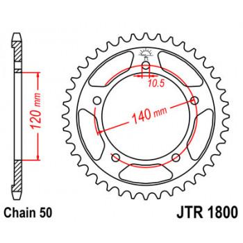Звезда задняя JT Sprockets JTR1800.42