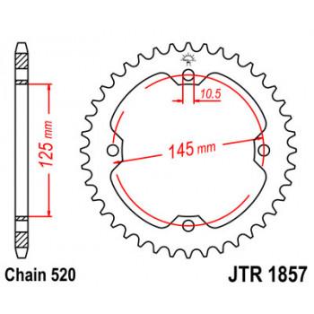 Звезда задняя JT Sprockets JTR1857.45