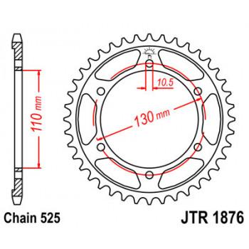 Звезда задняя JT Sprockets JTR1876.43