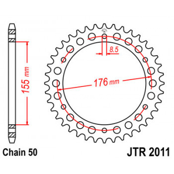 Звезда задняя JT Sprockets JTR2011.42