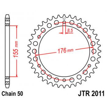 Звезда задняя JT Sprockets JTR2011.43