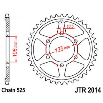 Звезда задняя JT Sprockets JTR2014.47
