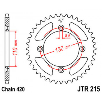 Звезда задняя JT Sprockets JTR215.55
