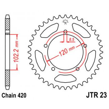 Звезда задняя JT Sprockets JTR23.47