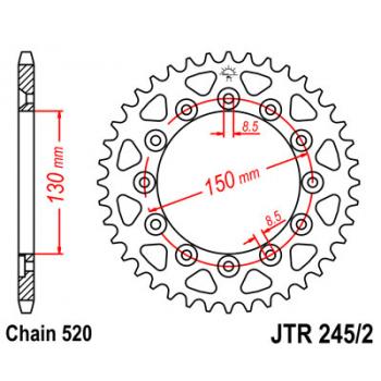 Звезда задняя JT Sprockets JTR245/2.42