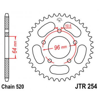 Звезда задняя JT Sprockets JTR254.37