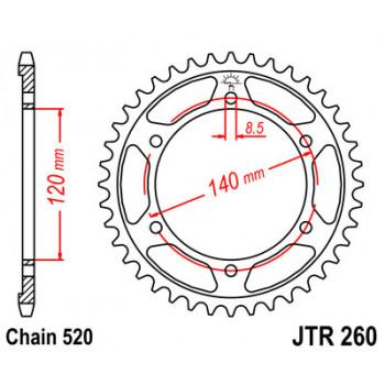 Звезда задняя JT Sprockets JTR260.38