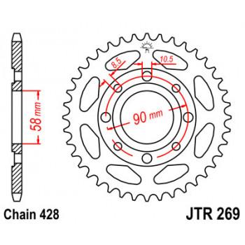 Звезда задняя JT Sprockets JTR269.43
