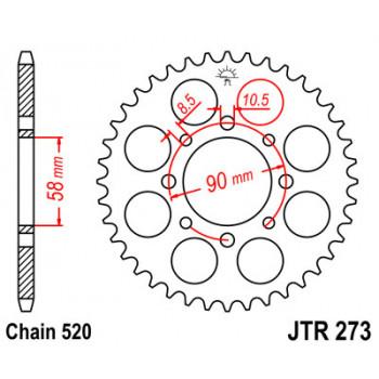 Звезда задняя JT Sprockets JTR273.44