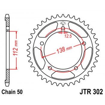 Звезда задняя JT Sprockets JTR302.41