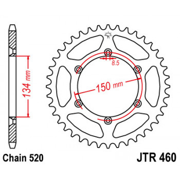 Звезда задняя JT Sprockets JTR460.46
