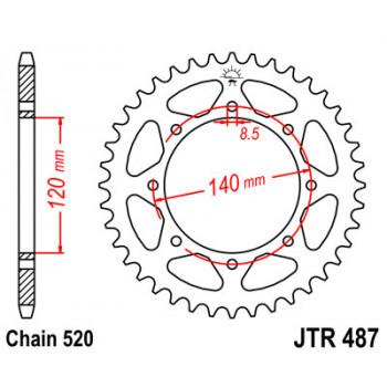 Звезда задняя JT Sprockets JTR487.44
