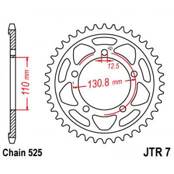 Звезда задняя JT Sprockets JTR7.45
