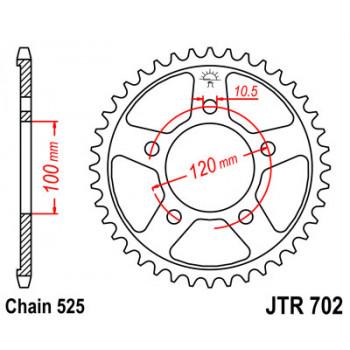 Звезда задняя JT Sprockets JTR702.42
