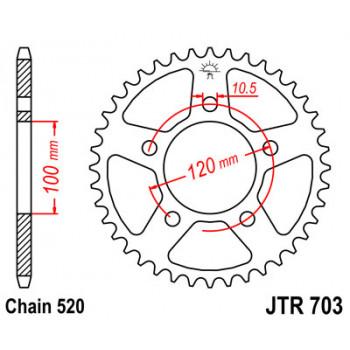 Звезда задняя JT Sprockets JTR703.40