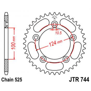 Звезда задняя JT Sprockets JTR744.38