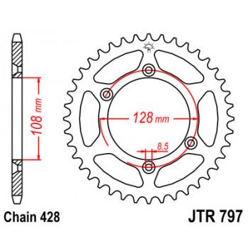 Звезда задняя JT Sprockets JTR797.51