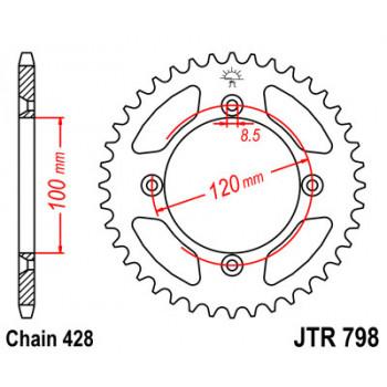 Звезда задняя JT Sprockets JTR798.47