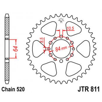 Звезда задняя JT Sprockets JTR811.48