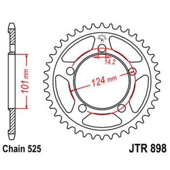 Звезда задняя JT Sprockets JTR898.37