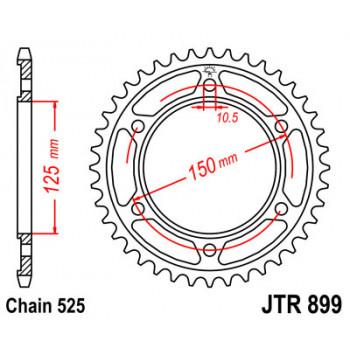 Звезда задняя JT Sprockets JTR899.45