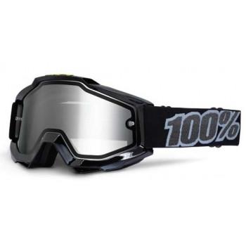 Мотоочки 100% Accuri Enduro Goggle Black Tornado - Clear Dual Lens