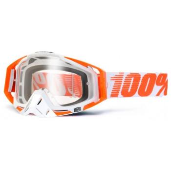 Мотоочки 100% Racecraft Moto Goggle Mandarina - Clear Lens