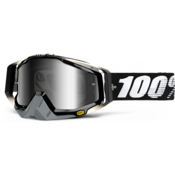 Мотоочки 100% Racecraft Goggle Abyss Black - Mirror Silver Lens