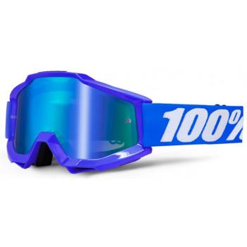 Мотоочки 100% Accuri Moto Goggle Reflex Blue - Mirror Blue Lens