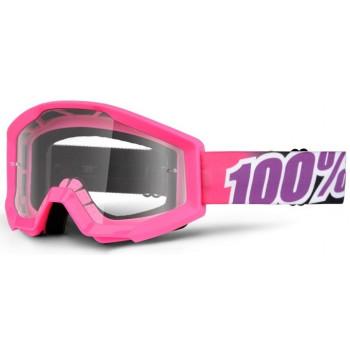 Мотоочки 100% Strata Moto Goggle Bubble Gum - Clear Lens