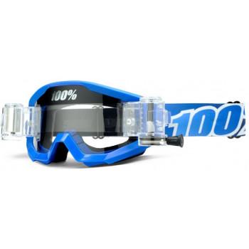 Мотоочки 100% Strata Mud Goggle Blue Lagoon - Clear Lens