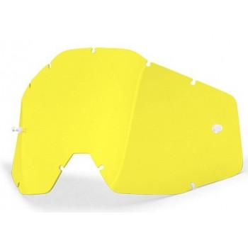 Линза для мотоочков 100% Racecraft/Accuri/Strata Replacement Lens Yellow Anti-Fog