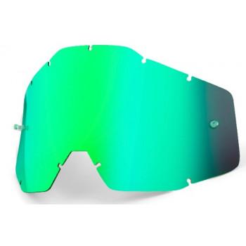 Линза для мотоочков 100% Racecraft/Accuri/Strata Replacement Lens Green Mirror Anti-Fog