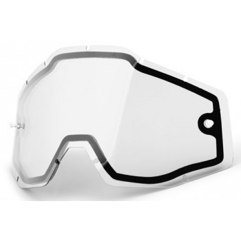 Линза для мотоочков 100% Racecraft/Accuri/Strata Dual Replacement Lens - Clear