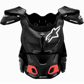 Моточерепаха Alpinestars A-8 Body Protection Vest Black-White S/M