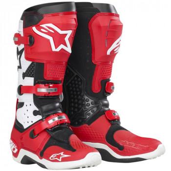 Мотоботы Alpinestars Tech 10 White-Red 11