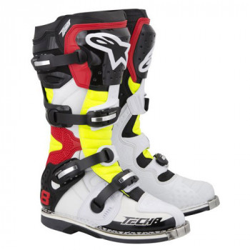 Мотоботы Alpinestars TECH 8 White-Yellow-Red 11