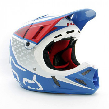 Мотошлем FOX V4 Reed Outdoor Replica White-Red-Blue XL