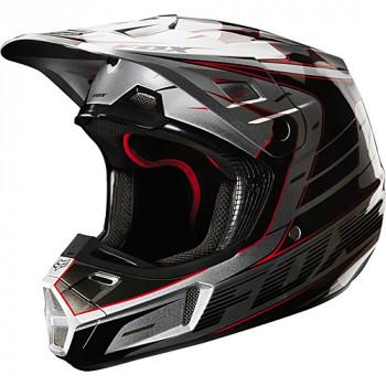 Мотошлем FOX V2 Race Silver L