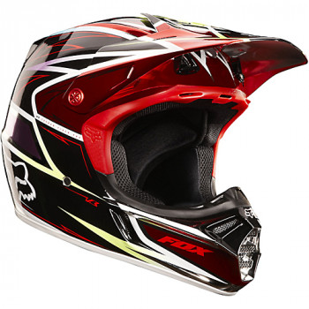 Мотошлем FOX V3 Race Red-Black XL