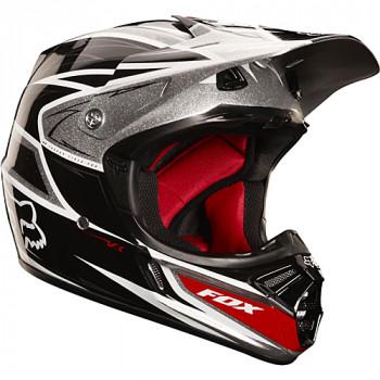 Мотошлем FOX V3 Race Black-Silver XL