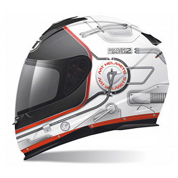 Мотошлем MT Thunder Lighting Stratosphere White-Black M
