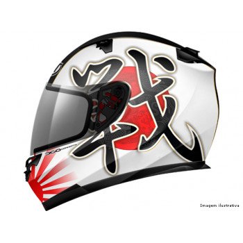 Мотошлем MT Thunder Lightning Battle White-Black-Red M