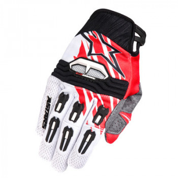 Мотоперчатки Alpinestars Techstar White-Red M(2014)