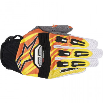 Мотоперчатки Alpinestars Techstar Yellow-Orange-White M(2014)