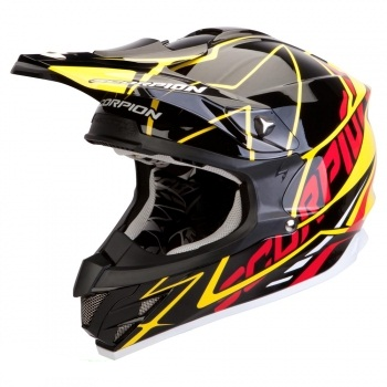 Мотошлем Scorpion VX-15 AIR SPRINT Black-Yellow-Red XL
