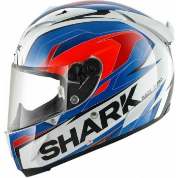 Мотошлем SHARK Race-R Pro Kimbo White-Blue-Orange L