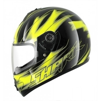 Мотошлем SHARK S600 Moonlight High Visibility Yellow-Black XL