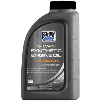Моторное масло Bel-Ray V-Twin Synthetic Engine Oil 10W-50 (1L)